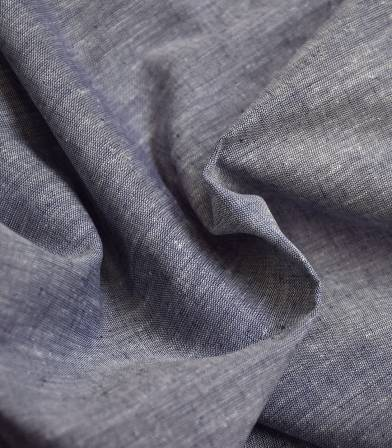 Tissu Lin coton - marine