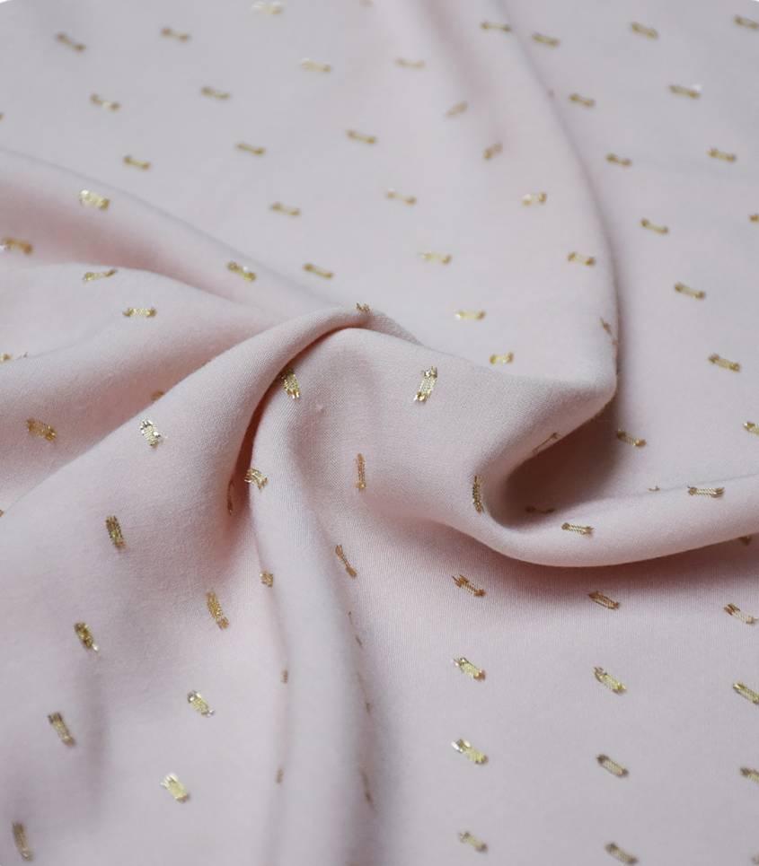 Tissu viscose plumetis or - Rose