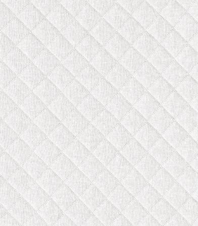Tissu Jersey matelassé blanc