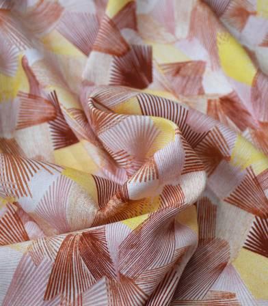 Tissu viscose Kaléidoscope - Nude