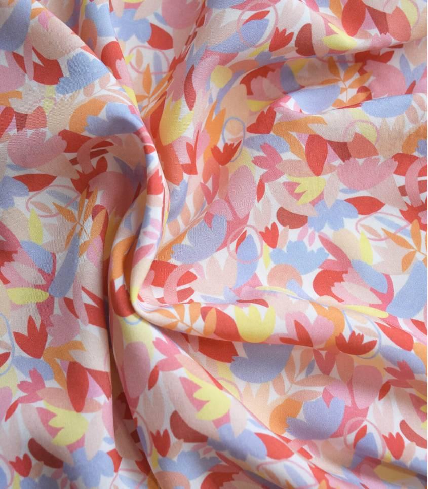 Tissu viscose Fiori - Tutti frutti