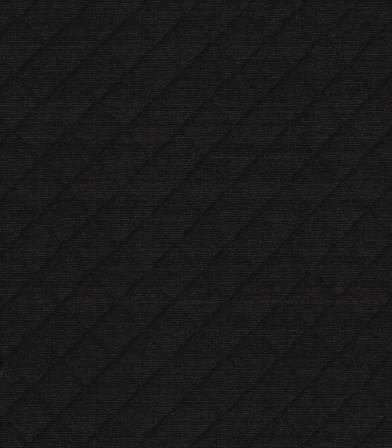 Tissu Jersey matelassé noir