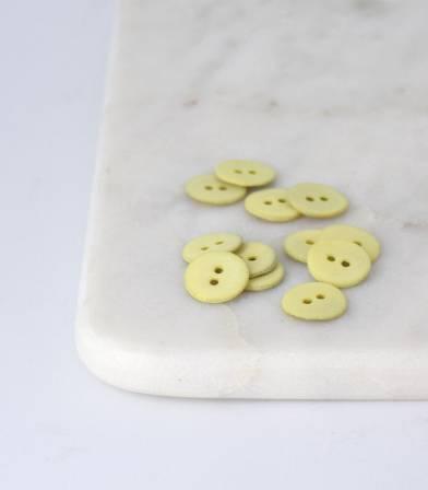 Boutons nacre mat - Citron