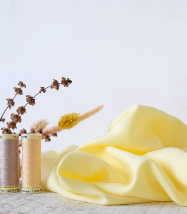 Tissu crêpe de viscose - Limoncello