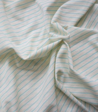 Tissu Jersey Stripes - Aqua