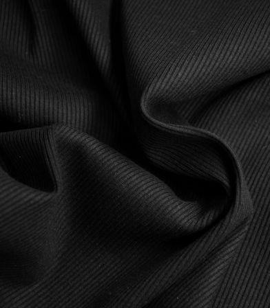 Jersey cotelé - Noir