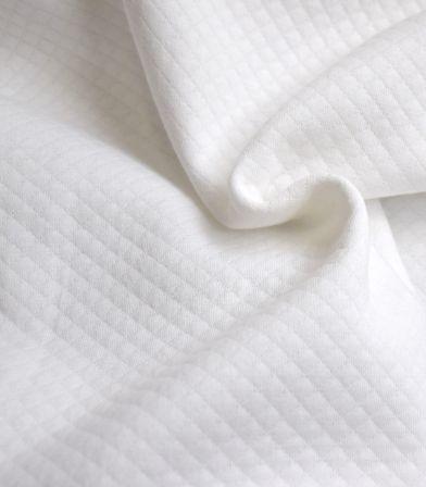 Jersey mini matelassé - Blanc