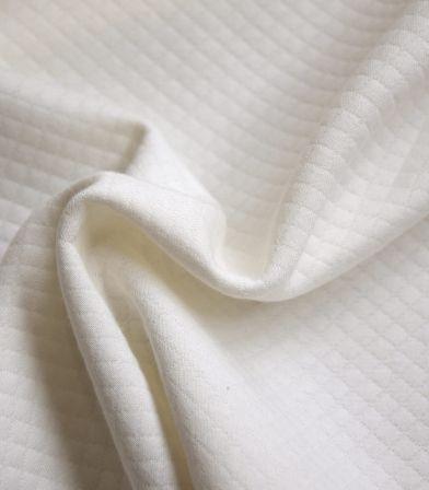 Jersey mini matelassé - Blanc cassé