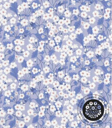 Liberty Organic - Mitsi bleuet