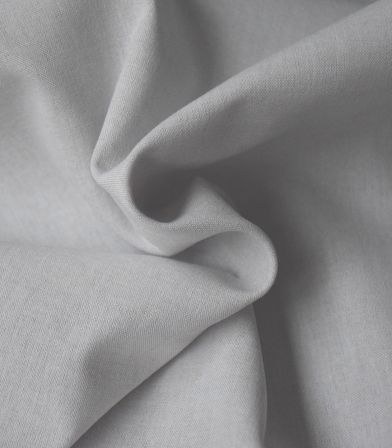 Tissu chambray poly coton - Gris
