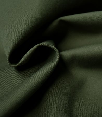 Tissu gabardine stretch - khaki Green