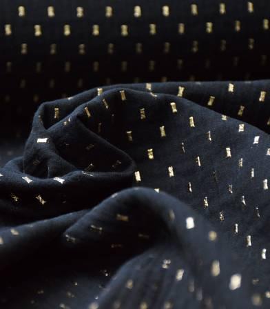 Double gaze confetti d'or - NOIR