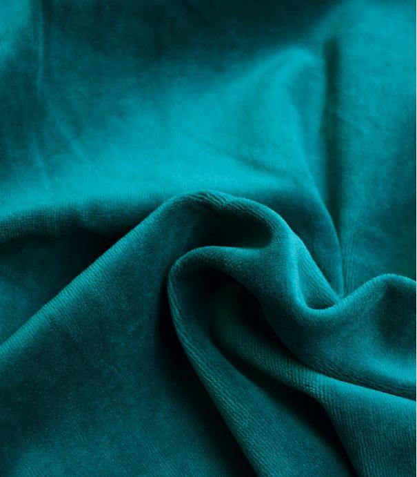 Tissu Jersey velours - Pétrole