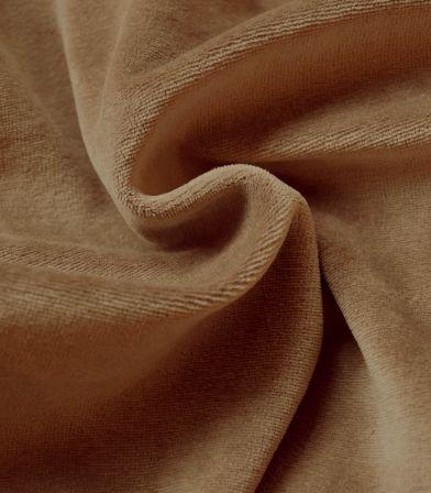 Tissu Jersey velours - Camel