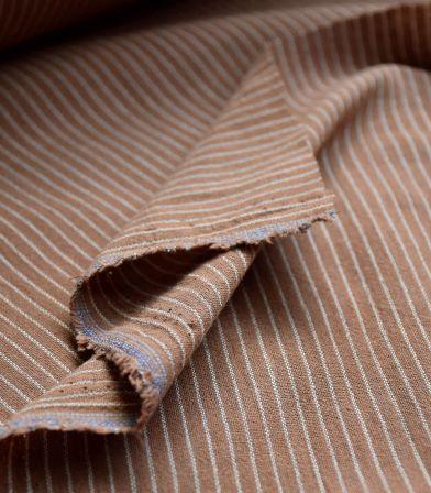 Tissu rayures Lima - Noisette