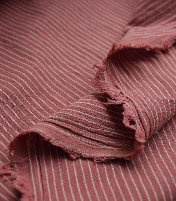 Tissu rayures Lima - Santal