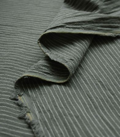Tissu rayures Lima - Kaki