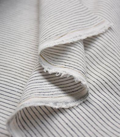 Tissu rayures Lima - Blanc