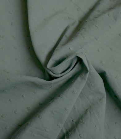 Tissu plumetis - Vert Mousse