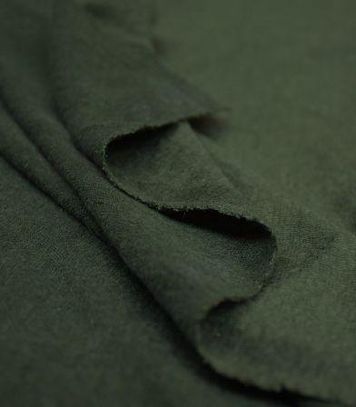 Tissu jersey lin - Green Khaki