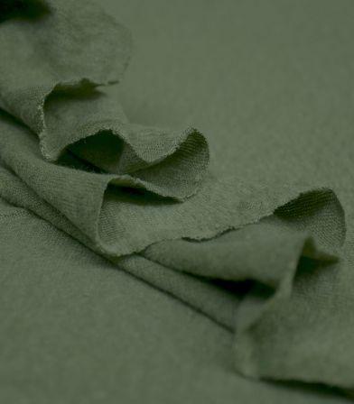 Tissu jersey lin - Olive Green