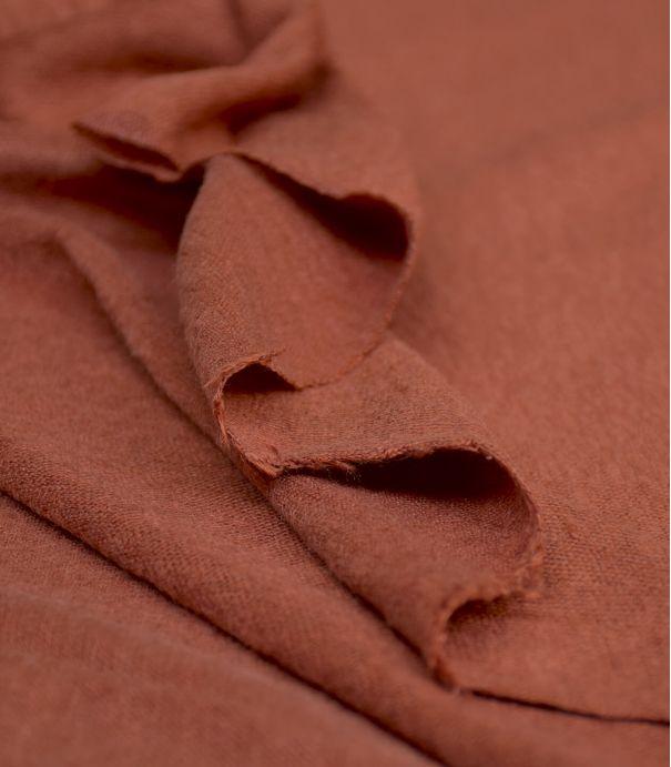 Tissu jersey lin - Sienne