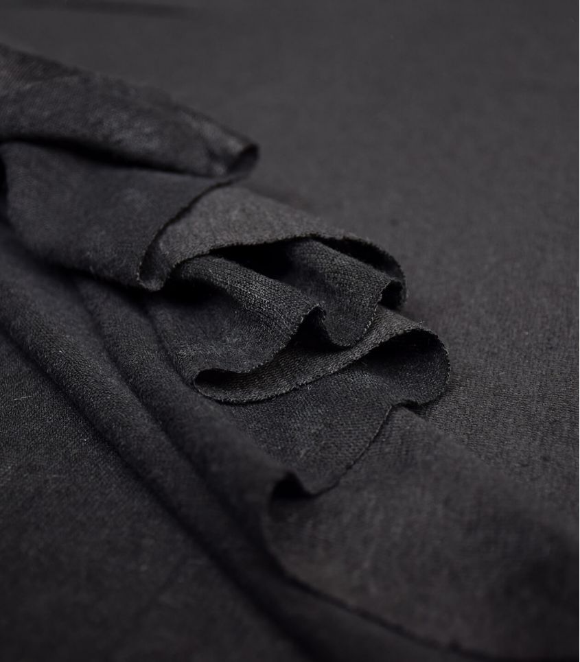 Tissu jersey lin - Black