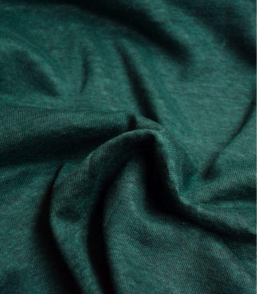 Tissu jersey lin - Bottle Green