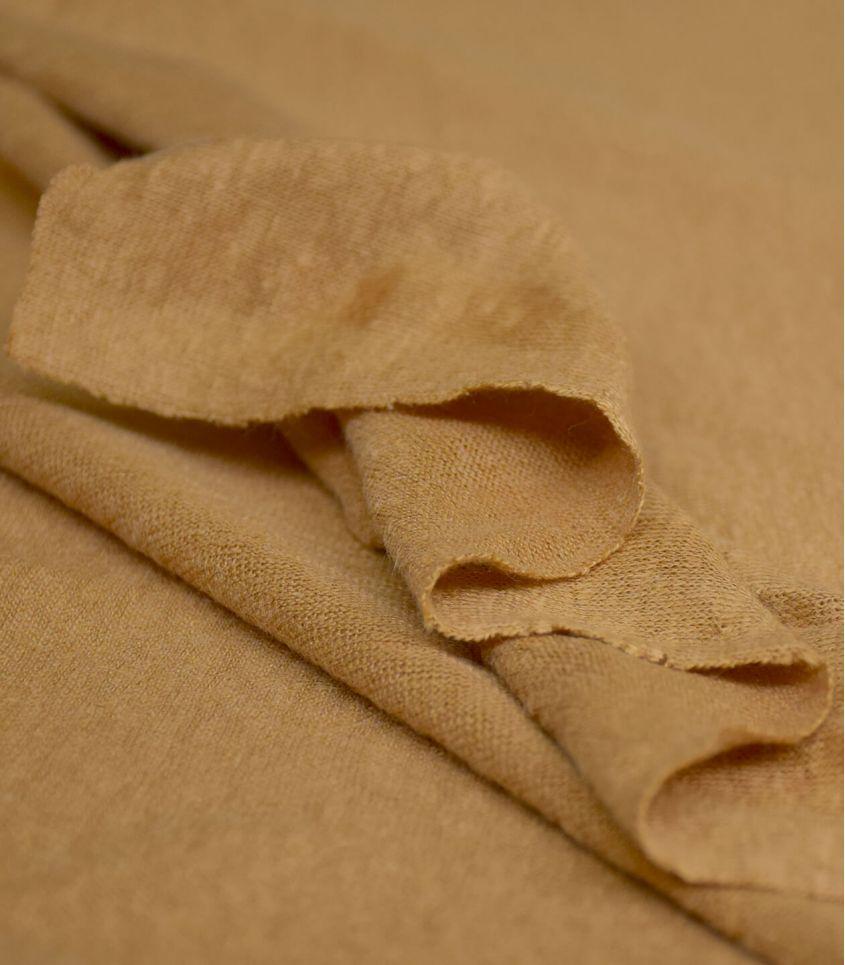 Tissu jersey lin - Dry mustard