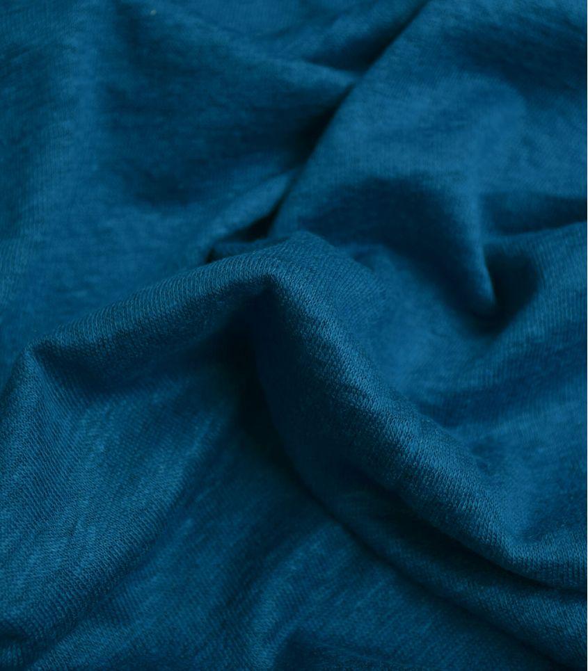 Tissu jersey lin - Ocean