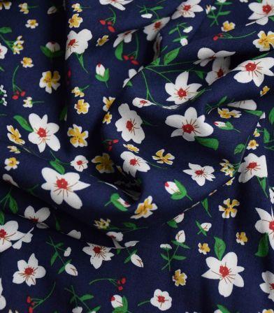 Tissu viscose Blumen - night
