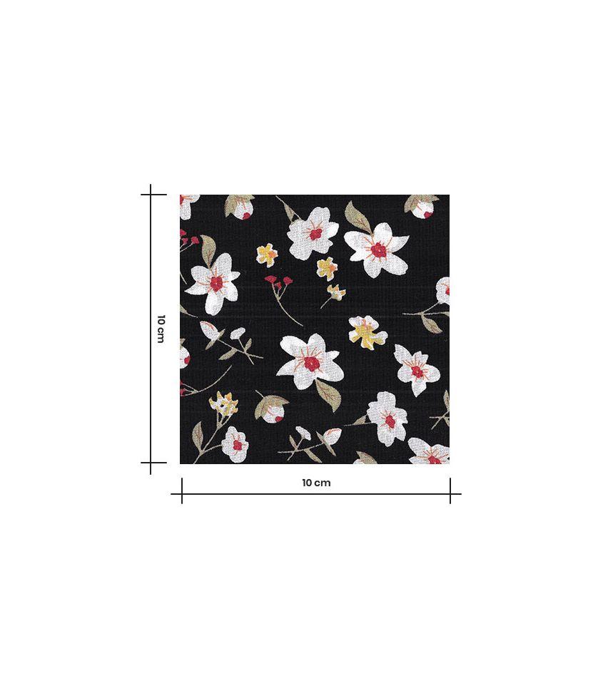 Tissu viscose Blumen - Black