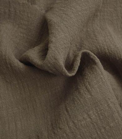 Tissu gaze de coton - Taupe