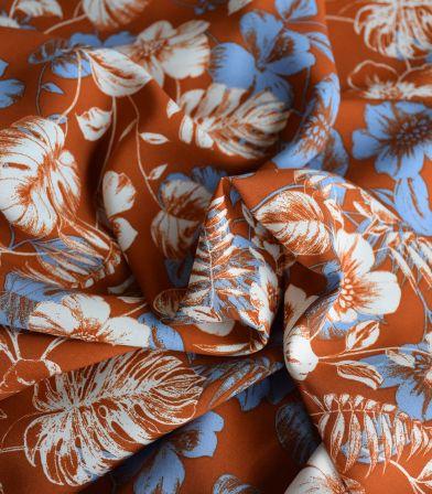 Tissu viscose Mangrove - Ambre