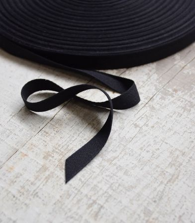 Ruban sergé 15mm - noir