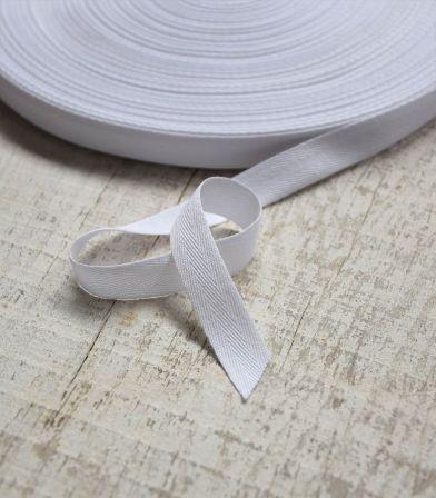 Ruban sergé 15mm - blanc