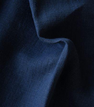 Tissu lin lavé Marine