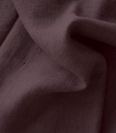 Tissu lin lavé Acajou