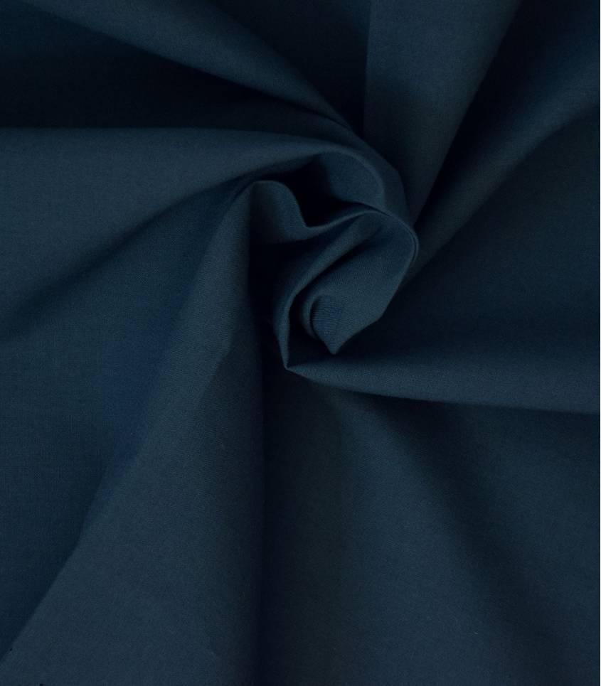 Voile de coton bleu marine