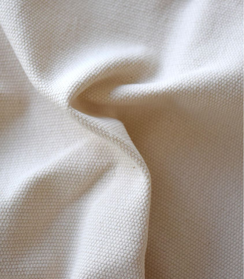 Tissu natté de coton - Ecru