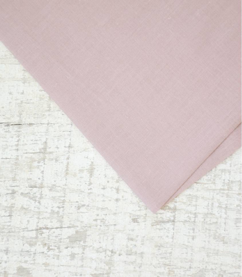 Voile de coton brume rosée
