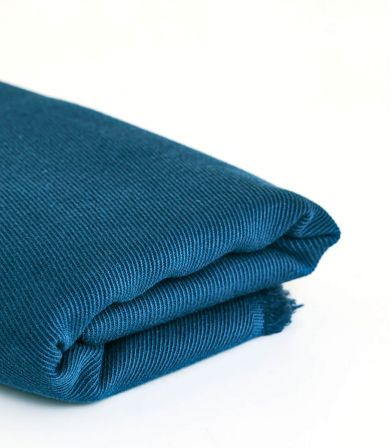 Tissu Twill Lin / Coton - Ocean