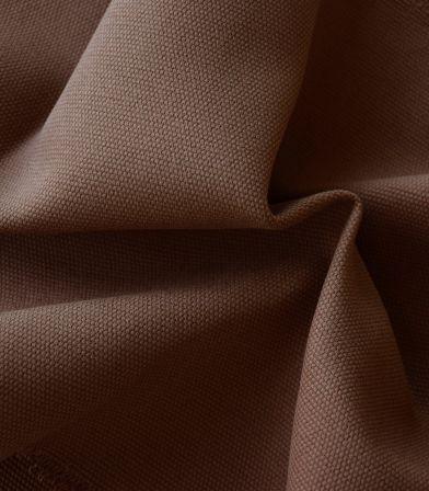 Tissu natté de coton - Cappuccino