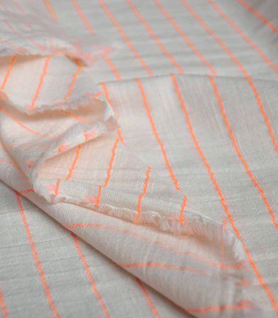 Gaze de coton - Sari Fluo Orange