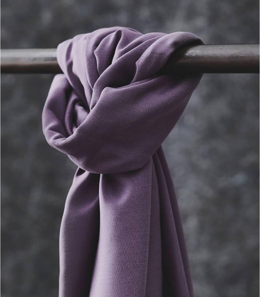 Tissu smooth drape twill - Mauve