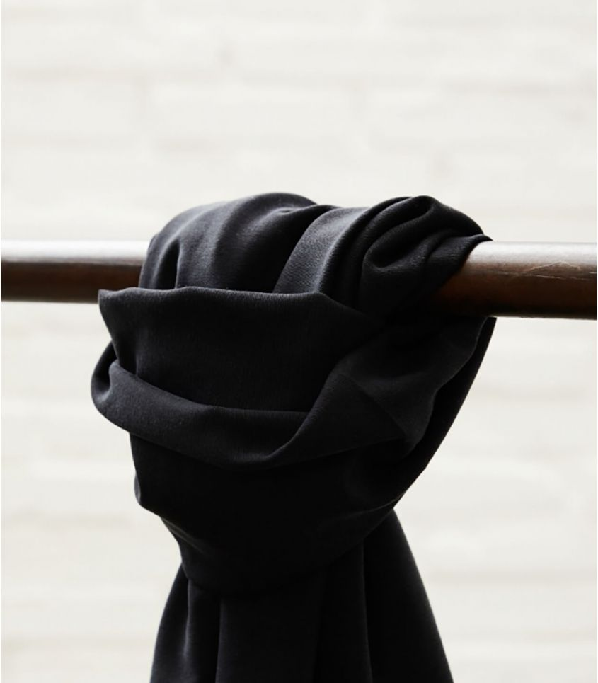Tissu Soft Stretch twill - Black