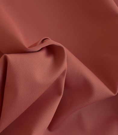 Tissu gabardine terracotta