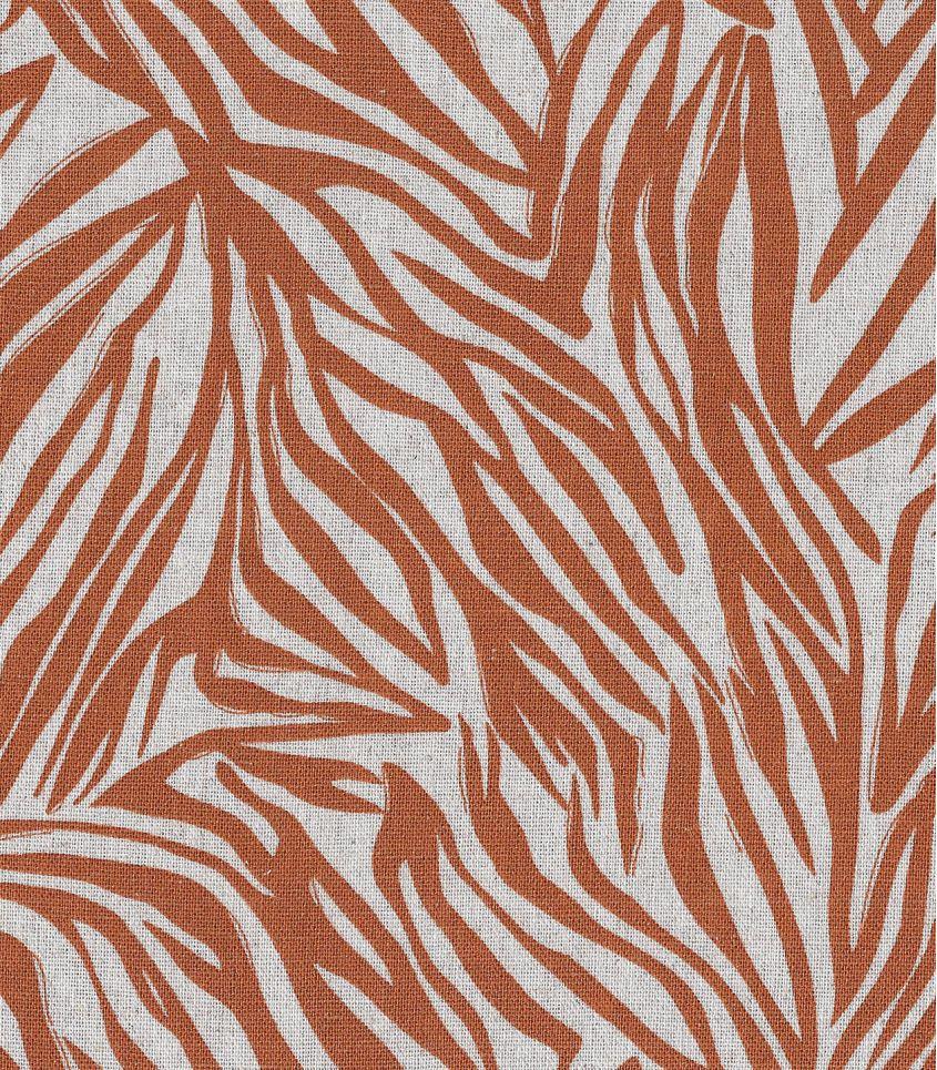 Tissu lin viscose - Zèbre - Chesnut