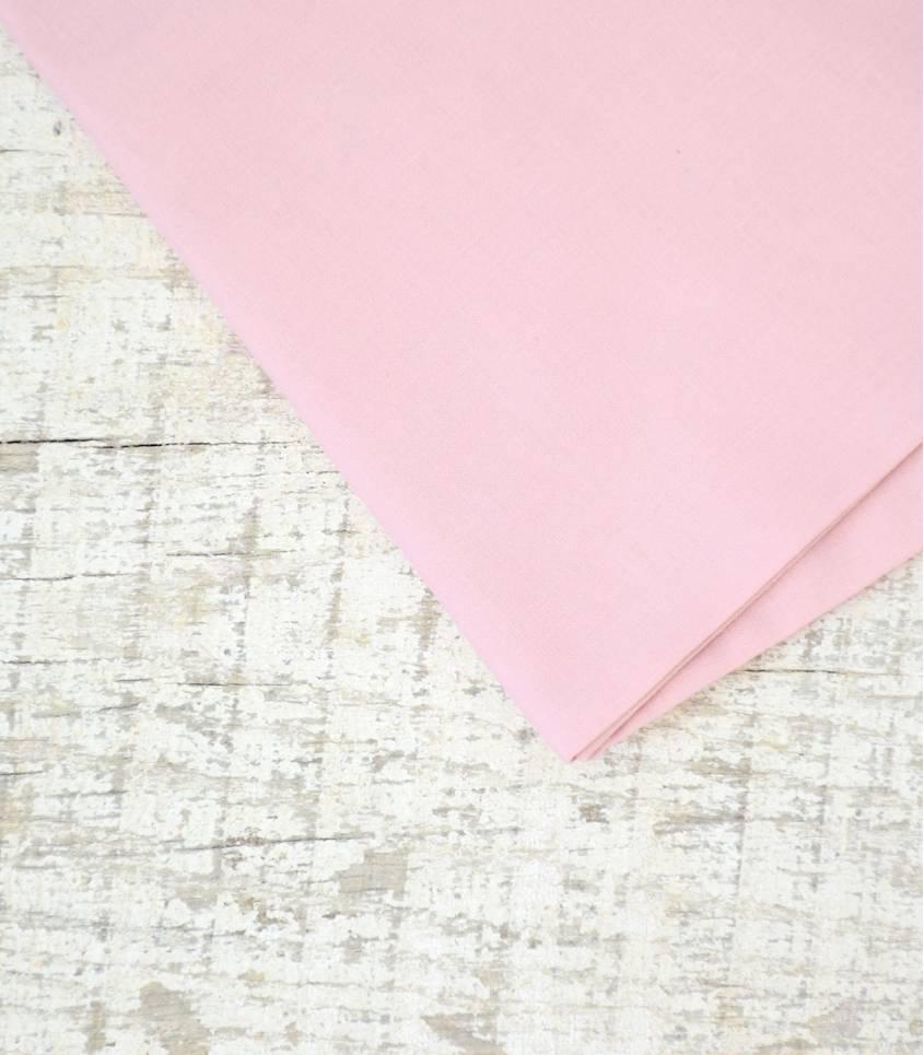 Voile de coton rose dragée