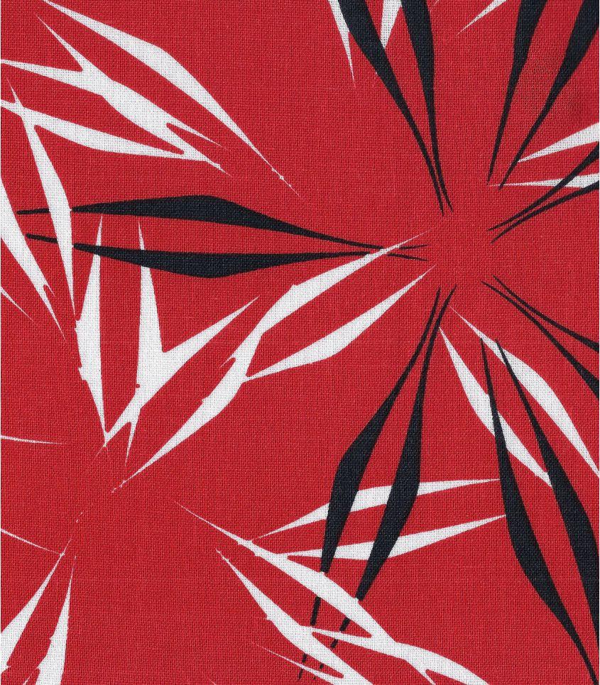 Tissu lin viscose - Palmeraie - Coquelicot